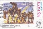 Sellos de Europa - España -  Escenas del Quijote- LA VUELTA A CASA    (H)