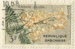 Stamps Gabon -  CASSIA JAUNE