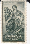 Sellos de Europa - España -  NAVIDAD- 1963- Nacimiento (Berruguete)    (H)