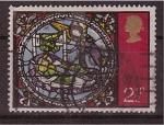 Stamps United Kingdom -  Navidad- Vidriera catedral de Canterbuby