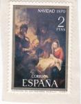 Sellos del Mundo : Europa : España : NAVIDAD- 1970- Adoración de los pastores  (Murillo)     (H)
