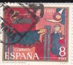 Sellos de Europa - España -  NAVIDAD- 1971- Fragmento de Sant Andreu de Sagars    (H)