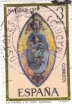 Stamps : Europe : Spain :  NAVIDAD- 1975-La Virgen y el niño -retablo del Santuario de San Miguel(Navarra)    (H)