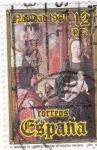 Sellos de Europa - España -  NAVIDAD- 1981- La Adoración de los Reyes de Juan de Flandes    (H)