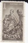 Sellos de Europa - España -  NAVIDAD- 1962-Nacimiento  (Pedro de Mena)     (H)