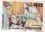 Stamps Spain -  NAVIDAD- 1986- Retablo Mayor de la Catedral de Toledo   (H)