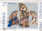 Sellos de Europa - España -  NAVIDAD- 1992 Nacimiento obra de Obdulia Acevedo    (H)