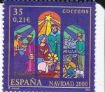 Stamps Spain -  NAVIDAD- 2000- Belén Vanguardista     (H)