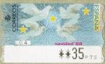 Stamps Spain -  ATMs - Navidad.
