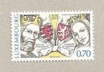Sellos de Europa - Luxemburgo -  Juan de Luxemburgo y Elisabeth de Bohemia