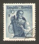 Stamps Austria -  883 - Traje típico de Salzkammergut
