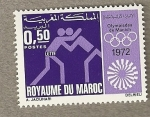 Stamps of the world : Morocco :  Juegos Olímpicos Munich 1972