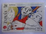 Sellos de Europa - España -  COMPOSTELA 93, del pintor: Isaac  Díaz  Pardo. Ed: 3256