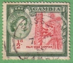 Stamps : Africa : Gambia :  Palm wine tapping