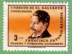 Stamps : America : El_Salvador :  Francisco Antonio Gavidia