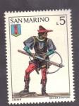 Stamps San Marino -  Ballestero del castillo de Serravalle