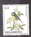 sellos de Europa - San Marino -  herrerillo común
