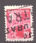 sellos de America - Ecuador -  timbre escolar