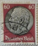 Sellos de Europa - Alemania -  von hindenburg 1933 reich