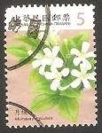 Stamps Asia - Taiwan -  3200 - Flor Murraya Paniculata