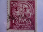 Stamps Spain -  Septimo Centenario Universidad de Salamanca.