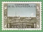 Stamps : America : El_Salvador :  Cooperativa de pescadores Acajutla