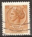 Sellos de Europa - Italia -  Moneda de Siracusa.