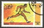 Stamps : Asia : Oman :  Dhufar - Olimpiadas de Montreal, carrera a pie