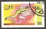 Stamps : Asia : Oman :  Dhufar - Olimpiadas de Montreal, carrera de vallas