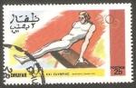 Stamps : Asia : Oman :  Dhufar - Olimpiadas de Montreal, gimnasia