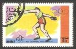 Stamps : Asia : Oman :  Dhufar - Olimpiadas de Montreal, lanzamiento de disco