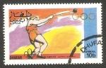 Stamps : Asia : Oman :  Dhufar - Olimpiadas de Montreal, lanzamiento de martillo