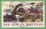 Stamps United States -  The age of Reptiles