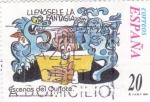 Sellos de Europa - España -  Escenas del Quijote- LLENÓSELE LA FANTASÍA    (H)