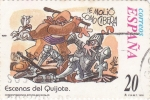 Sellos de Europa - España -  Escenas del Quijote- LE MOLIÓ COMO CIBERA   (H)