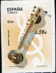 Stamps Spain -  4713 -Instrumentos Musicales. Sitar.
