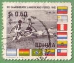 Stamps : America : Bolivia :  XXI Campeonato Suramericano de Fútbol