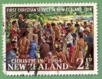 Stamps : Oceania : New_Zealand :  First Christian Service