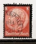 Stamps Germany -  Muerte de Hindenburg.
