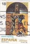 Sellos de Europa - España -  SALVADOR DALÍ- Poesía de América    (H)