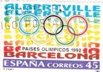 Stamps Spain -  Países Olímpicos-Albertville- Barcelona -92    (H)