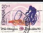 Sellos de Europa - España -  Pre-Olímpica Barcelona-92   Ciclismo    (H)