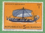 Stamps : Europe : San_Marino :  Nave da carico