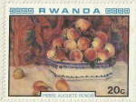 Stamps Africa - Rwanda -  PIERRE AUGUSTE RENOIR