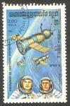 Sellos del Mundo : Asia : Camboya : Kampuchea - 461 - Día de la Cosmonautica, Soyuz 8