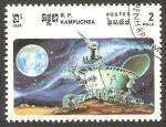 Stamps : Asia : Cambodia :  Kampuchea - 541 - Conquista espacial, vehículo lunar soviético