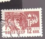 Stamps Russia -  Soldador