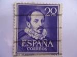 Stamps Spain -  Literatos- Ruiz de Alarcón y Mendoza (1580-1639) Ed:1074