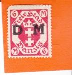 Sellos de Europa - Polonia -  Ciudad Libre de DANZIG - escudo