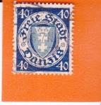 Stamps Poland -  Ciudad Libre de DANZIG - escudo